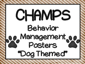 CHAMPS Dog themed posters - 2 sets!!
