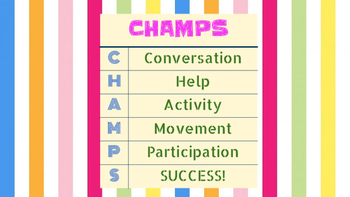 CHAMPS Letters in Geometric Patterns