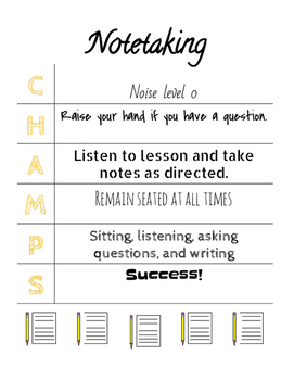 CHAMPS Poster for Note-Taking