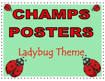 CHAMPS Posters Lady Bug Theme (2 Background Colors)