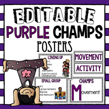 CHAMPS Posters- Purple