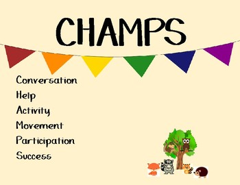 CHAMPS Posters with Penants and Woodland Creatures