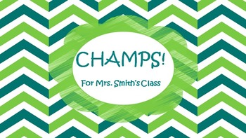 CHAMPS PowerPoint in Green and Teal
