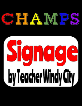 CHAMPS Signs (Simplified)