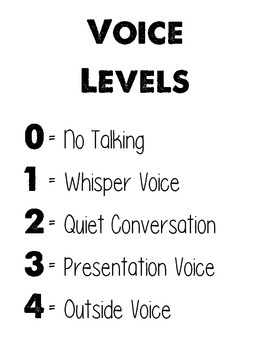 CHAMPS Voice Level Chart, B&W
