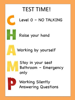 CHAMPS behavior system posters