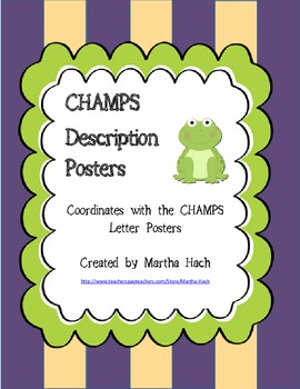 CHAMPS description posters - frog themed