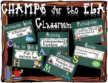 CHAMPS for the ELA Classroom