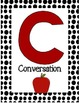 CHAMPS letter posters (apple polka dot)
