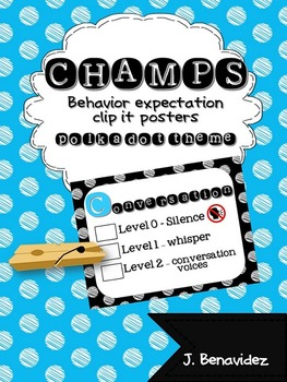 CHAMPS posters for behavior expectations