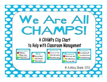 CHAMPs Clip Chart - Blue Polka Dots