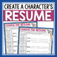 CHARACTER ASSIGNMENT - RESUME FOR A CHARACTER