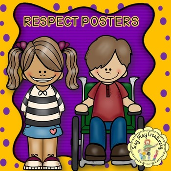 "CHARACTER EDUCATION POSTERS ""Respect"" 3 Classroom Decor Posters"