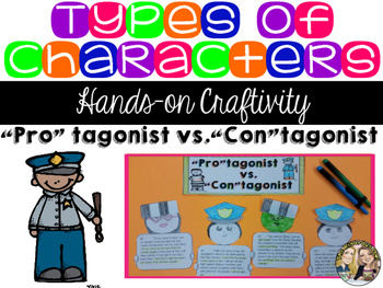 Types of Characters Craftivity