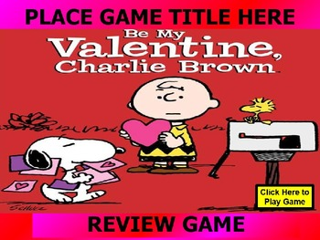 CHARLIE BROWN, PEANUTS, SNOOPY VALENTINE REVIEW GAME TEMPL