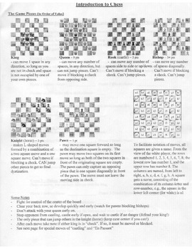 CHESS PACK #1 - Teaching, Learning, Scoring & Introduction