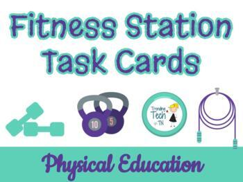 CHEVRON FITNESS STATIONS task cards! Print this circuit an