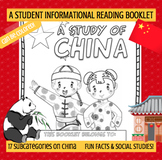 CHINA - A Study of China – A 24 Page Student Informational