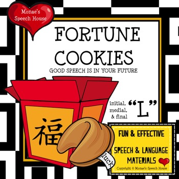 """CHINESE FORTUNE COOKIES  SPEECH THERAPY """"L"""""""