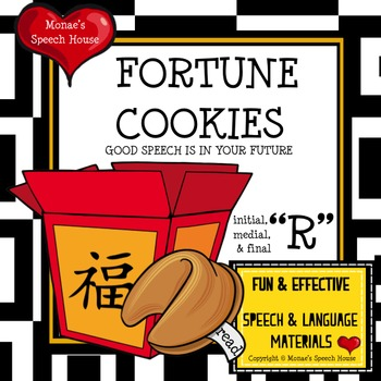 CHINESE FORTUNE COOKIES  SPEECH THERAPY /r/ worksheets