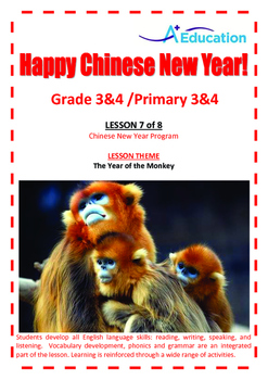 CHINESE NEW YEAR - Lesson 7 of 8 - Grades 3&4