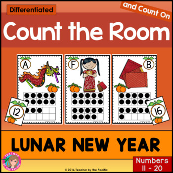 CHINESE NEW YEAR Math Center: Count the Room 11 - 20