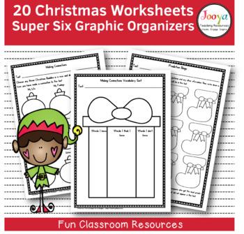 CHRISTMAS - 20 Christmas Themed Super Six Comprehension St