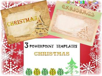 Christmas Activities - 3 Editable Powerpoint templates - W