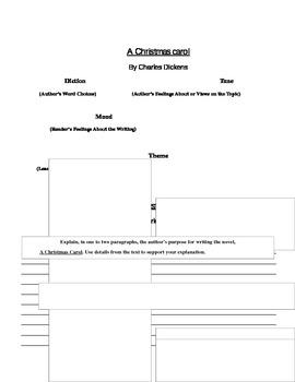 """CHRISTMAS: """"A Christmas Carol"""" Diction, Tone, Mood, Theme,"""