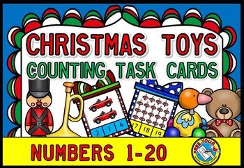 CHRISTMAS MATH: CHRISTMAS COUNTING TASK CARDS: CHRISTMAS TOYS