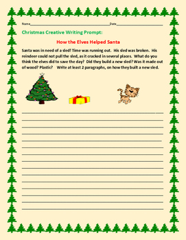 CHRISTMAS CREATIVE WRITING PROMPT: HOW THE ELVES HELPED SANTA