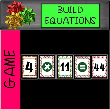 Christmas Group Equations Game
