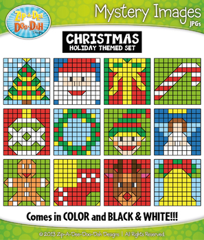 CHRISTMAS Create Your Own Mystery Images Clipart Set