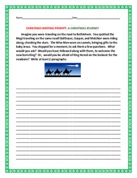CHRISTMAS/ EPIPHANY WRITING PROMPT