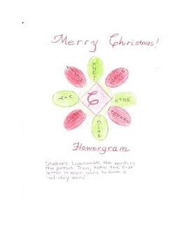CHRISTMAS FLOWERGRAM