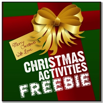 *CHRISTMAS FREEBIE* A Few English Activities
