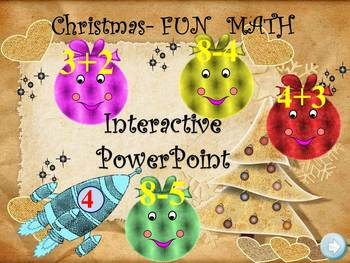 Christmas Math - Addition and Subtraction - PowerPoint pre