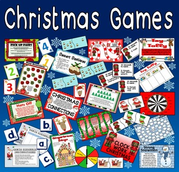 CHRISTMAS GAMES TEACHING RESOURCES KS1-2 BOARD CARD GAMES