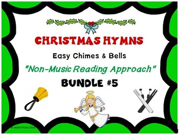 CHRISTMAS HYMNS - 3 Easy Chimes & Bells Arrangements BUNDLE #5