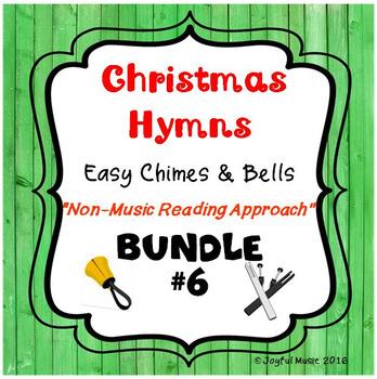 CHRISTMAS HYMNS - 3 Easy Chimes & Bells Arrangements BUNDLE #6
