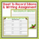 CHRISTMAS IDIOMS POSTERS & ACTIVITY