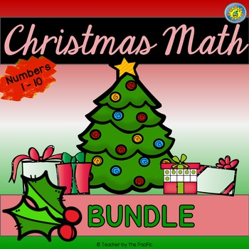 CHRISTMAS Math - Numbers 1-10 {BUNDLE}