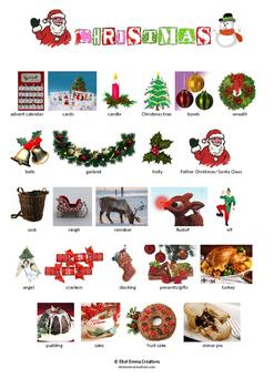 CHRISTMAS PICTIONARY - PAGE 1