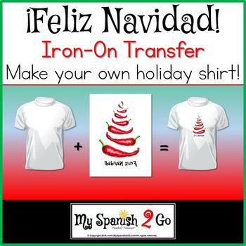 CHRISTMAS:  Adorable Chile Pepper Printable Iron-On Transf