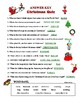 CHRISTMAS QUIZ - MATCH DEFINITION WITH XMAS WORDS