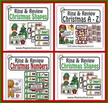CHRISTMAS (RING and REVIEW) BUNDLE (A to Z NUMBERS COLORS SHAPES)