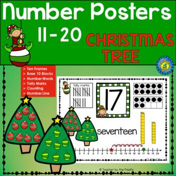 CHRISTMAS Math Anchor Charts - Numbers 11 - 20 ~ Kindergar