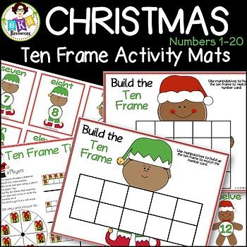 Christmas Activities ● Number Match ● Numbers 1-20 ● Ten F