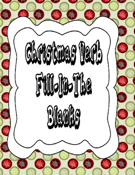 CHRISTMAS VERB FILL IN THE BLANK