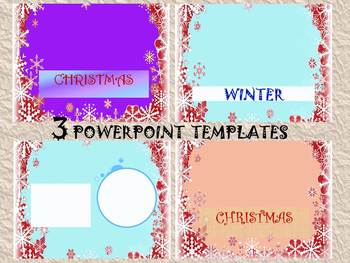 Winter Activities - Editable Powerpoint templates - Person